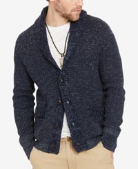 Denim And Supply Ralph Lauren Men's Shawl Collar Cardigan Navy