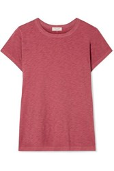 Rag And Bone The Tee Slub Pima Cotton Jersey T Shirt Brick