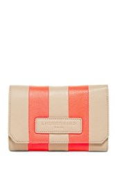 Liebeskind Elisa Striped Leather Wallet Beige
