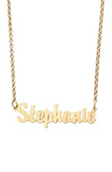 Argentovivo Women's Argento Vivo Personalized Script Name Necklace Gold