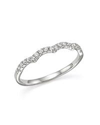 Bloomingdale's Diamond Stackable Band Ring In 14K White Gold .15 Ct. T.W.