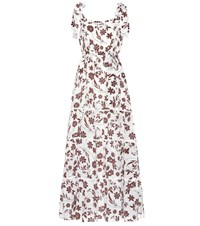 Athena Procopiou With Carly Floral Silk Dress Brown