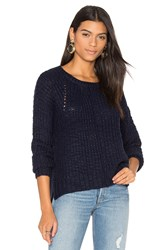 John And Jenn By Line Cheryl Crew Neck Sweater Navy