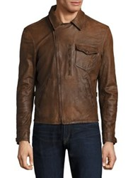Polo Ralph Lauren Leather Jacket Brown