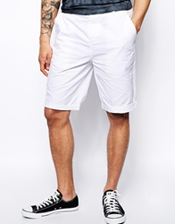 Asos Chino Shorts In Longer Length White