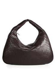 Bottega Veneta Veneta Maxi Hobo Bag Ebano Brown Nero Black