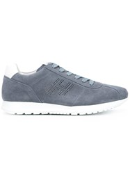 Hogan Perforated Sneakers Blue