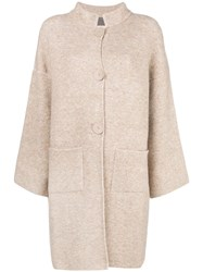 D.Exterior Single Breasted Coat Nude And Neutrals