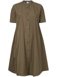 Aspesi Loose Flared Dress Brown