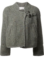 Chloe Chloe Toggle Fastening Cardigan Green