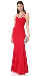Zac Posen Violet Gown Red Ribbon