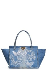 Valentino Medium Rockstud Denim Tote