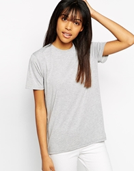 Minimum High Neck T Shirt With Capped Sleeves Grey