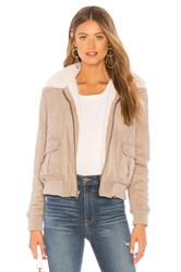 Cupcakes And Cashmere Ira Reversible Jacket With Faux Fur Lining Taupe