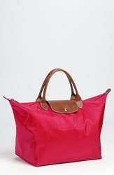 Longchamp 'Medium Le Pliage' Tote Red Red Garant