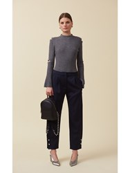Mother Of Pearl Jewell Trousers Black