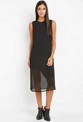 Forever 21 Contemporary Asymmetrical Hem Shift Dress Black