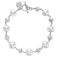 Dower And Hall Sterling Silver Pearlicious Pearl Nugget Bracelet Silver White
