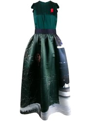 Undercover A Line Shaped Dress Green