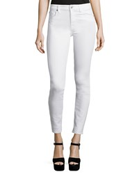 7 For All Mankind The Skinny Ankle Jeans White Size 27