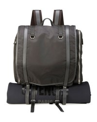Givenchy Nylon Camper Rucksack Bag Backpack With Logo Black