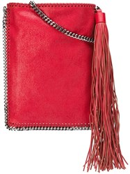 Stella Mccartney 'Falabella' Flat Crossbody Bag Red