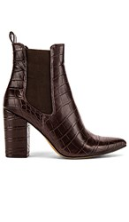 Steve Madden Subtle Bootie In Brown. Brown Crocco