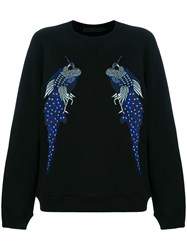 Proenza Schouler Re Edition Embroidered Sweatshirt Black