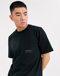 Puma Oversized Heavy Jersey T Shirt Black