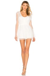 Asilio Glowing Heart Playsuit White