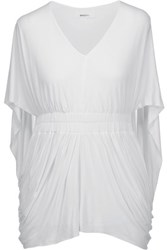 Bailey 44 Waterloo Draped Stretch Jersey Top White
