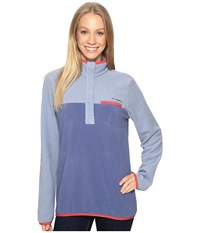 Columbia Mountain Side Pullover Beacon Bluebell Women's Long Sleeve Pullover