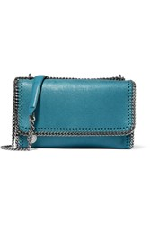 Stella Mccartney The Falabella Faux Brushed Leather Shoulder Bag Blue