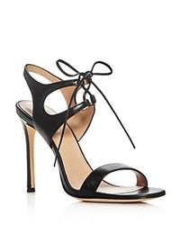 Pour La Victoire Elisa Lace Up High Heel Sandals Black