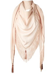 Forte Forte Frayed Scarf Pink Purple