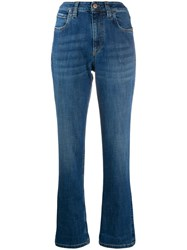 Brunello Cucinelli High Waisted Straight Leg Jeans Blue