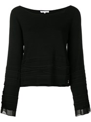 Patrizia Pepe Round Neck Jumper Black