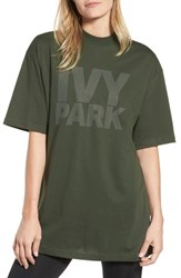 Ivy Park Dotted Logo Oversized Tee Pine