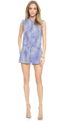 Rebecca Taylor Leo Fever Romper Blue Crush