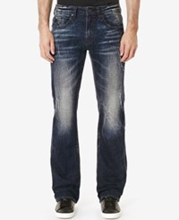 Buffalo David Bitton Men's King X Slim Fit Bootcut Jeans Sanded And Vintage