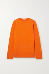 The Row Sibel Oversized Wool And Cashmere Blend Sweater Bright Orange