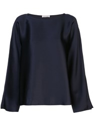 The Row Dylia Structured Blouse Blue