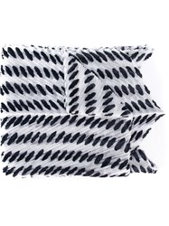 Issey Miyake Pleats Please By Oval Dots Pattern Scarf White