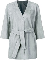Drome Wrap Around Midi Jacket Grey