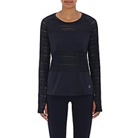 Tory Sport Women's Mesh Block Top Navy