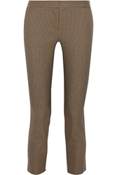 The Row Strenner Houndstooth Stretch Cotton Skinny Pants