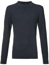 Orley Ribbed Crew Neck Sweater Blue
