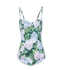 Dolce And Gabbana Floral Printed Swimsuit Multicoloured