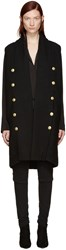 Balmain Pierre Black Gold Buttons Knit Vest