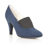 Lotus Shine High Heel Shoes Navy